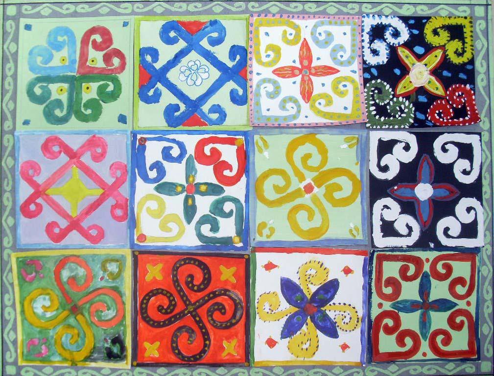 Башкирский орнамент вышивка 68